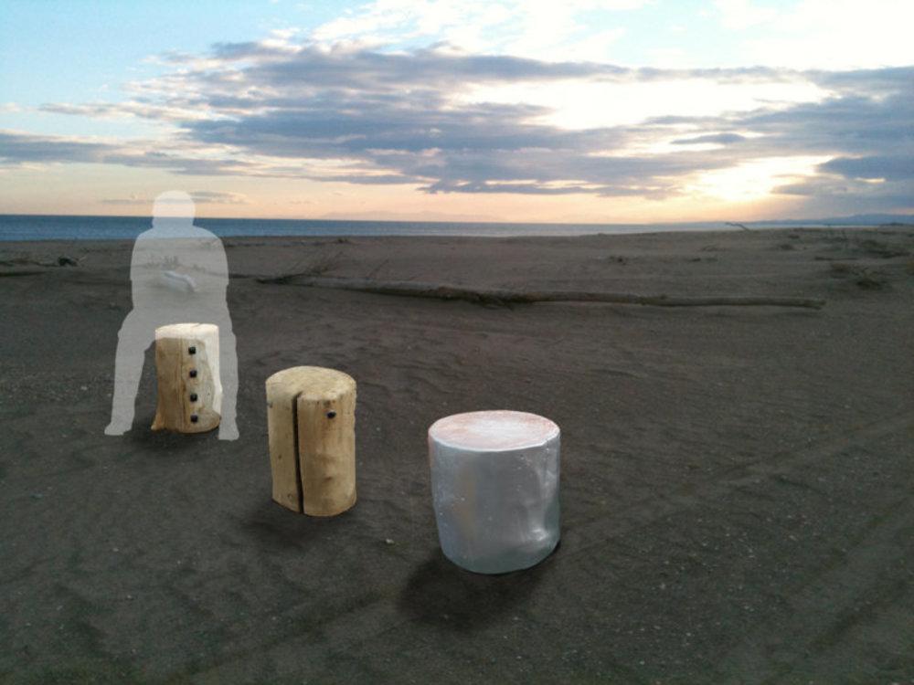 Driftwood stools