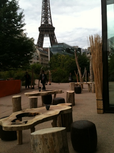 Rental Of A Set Of Driftwood Furniture For An Event In Orsay Museum In Paris