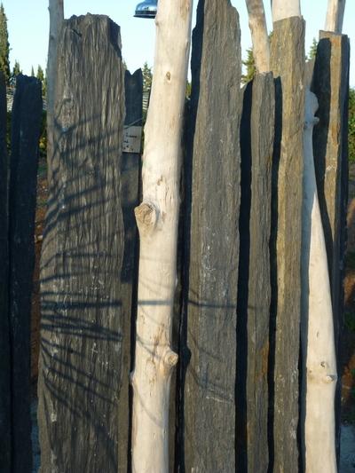 Douche en bois flotté