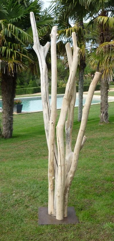 porte manteau en branches de bois flotté