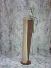 Vase en acier et bois flotté