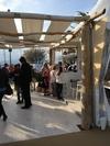 Pergola en bois flotté et en tissus pour le salon Coté Sud à St Tropez