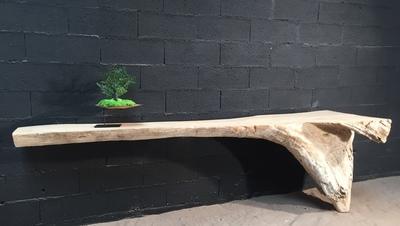 Console en bois flotté