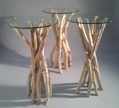 Table Mange Debout En Branches De Bois Flott
