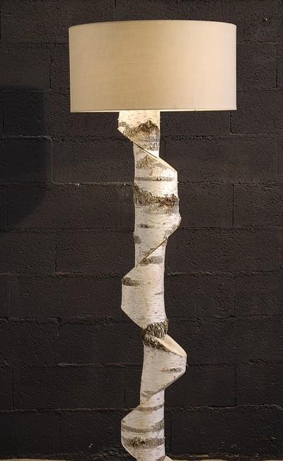 lampadaire en bouleau