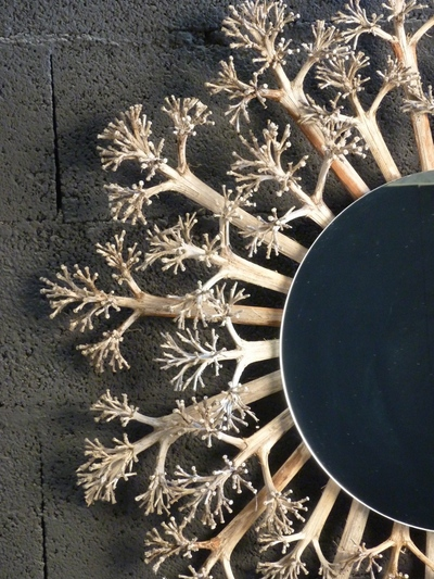 Miroir en agave