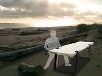 """table en bois flotté """"Crépuscule"""""""