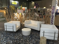 Decoration of the Ametis exhibition stand in Nantes for professional exhibition