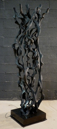Sculpture of lianas painted in black