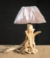 Lampe en bois flotté ref 539
