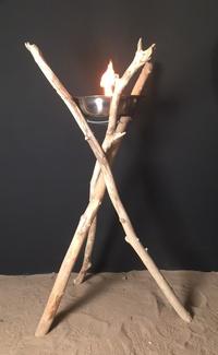 Flambeau en bois flotté grand modèle
