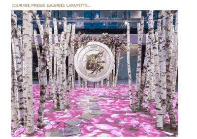 Décoration journée presse aux Galeries Lafayette à Paris