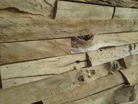 Driftwood brickwall