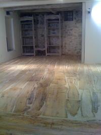 Driftwood floor