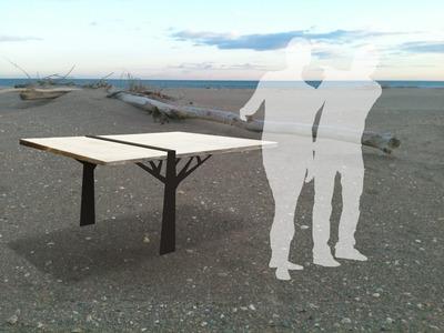"""Table en bois flotté """"Saint - Ex"""""""