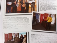 Publication in Chamber of Commerce and Industry of Beziers paper for the trophy of the small company price.