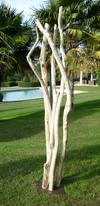 sculpture de branches de bois flotté