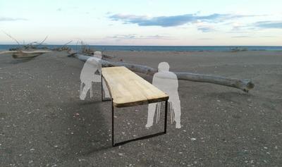 """Horizon"" table en bois flotté"