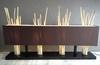 Lampe en bois écorcé couleur marron