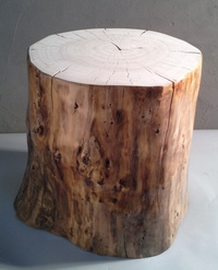Stool with sides varnished