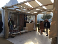 Driftwood pergola for Coté Sud in St Tropez