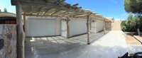 Driftwood pergola of 15m long