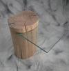 table de chevet en bois flotté