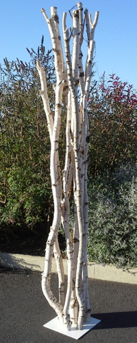 Sculpture of birchwood branches