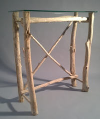 Driftwood branch console table