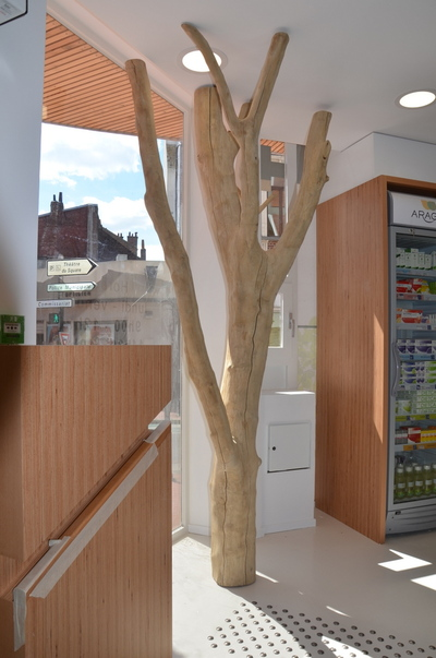 arbre en bois flott pour une pharmacie. Black Bedroom Furniture Sets. Home Design Ideas
