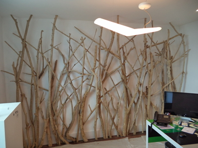 Mur en bois flott for Deco nature creation bois flotte