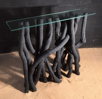 Liana console table painted in black