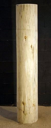 tronc en bois écorcé